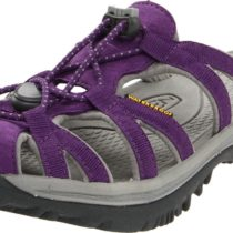 Keen Whisper Slide Sandal in Purple HeartNeutral Grey Color