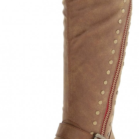 Madden Girl Cooper Riding Boot in Cognac Color
