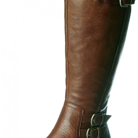 Naturalizer Johanna Wideshaft Riding Boot in Banana Bread Leather Color