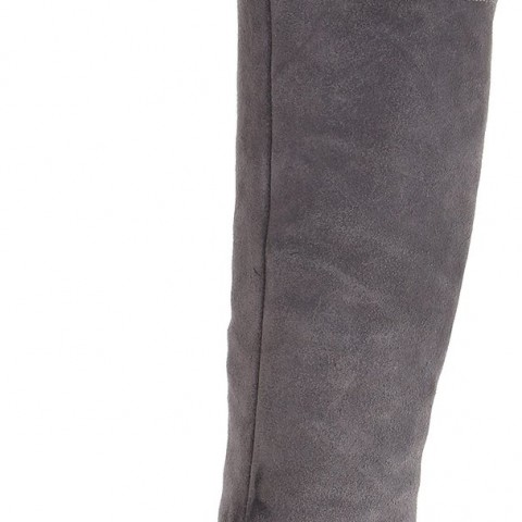 Naya North Slouch Boot in Grey Color