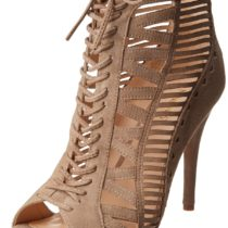 Nine West Angellica Bootie Taupe Suede Color