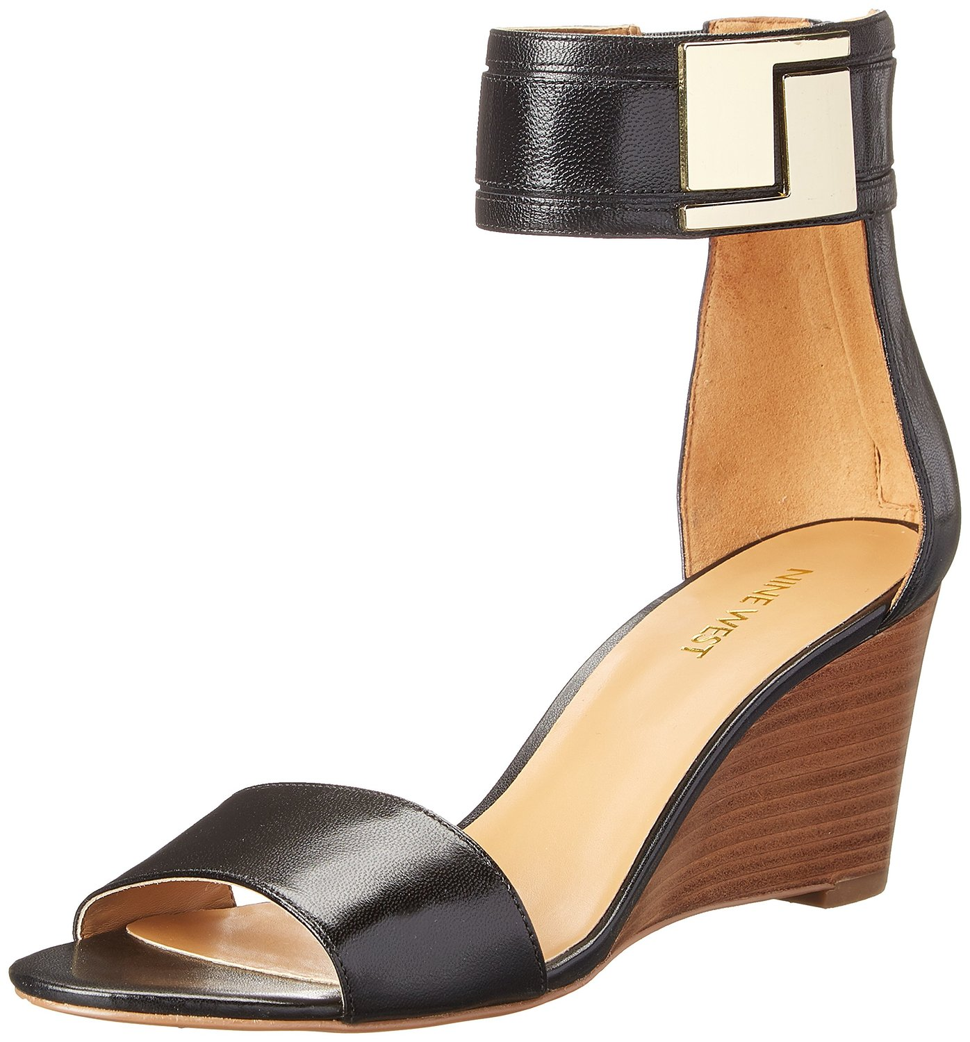 great fit attractivedesigns outlet for sale Nine West Nicetime Leather Wedge Sandal