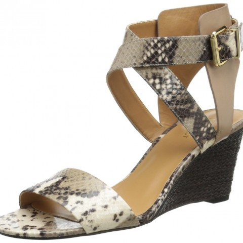Nine West  Nofrills Wedge Sandal in  Natural MultiBlack