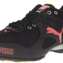 PUMA Cell Riaze Cross-Training Shoe in  Black Peach Yellow