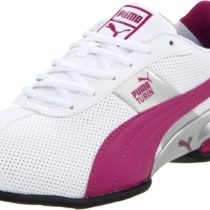 PUMA Cell Turin Running Shoe in WhiteeFestival Fuschia Color