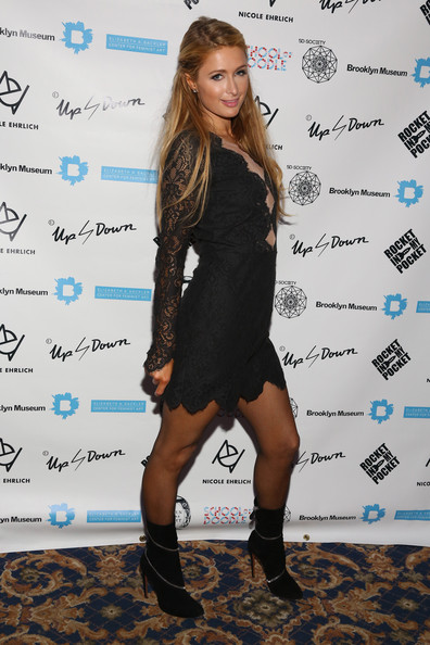 Paris Hilton Ankle Boots at 2nd Annual Women In Art Benefit in Florida