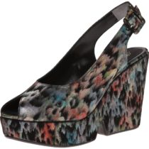 Robert Clergerie Dylani Wedge Pump in Black Plume Color