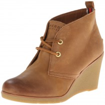 Sperry Top-Sider Harlow Burnished Wedge Pump in Cognac Color