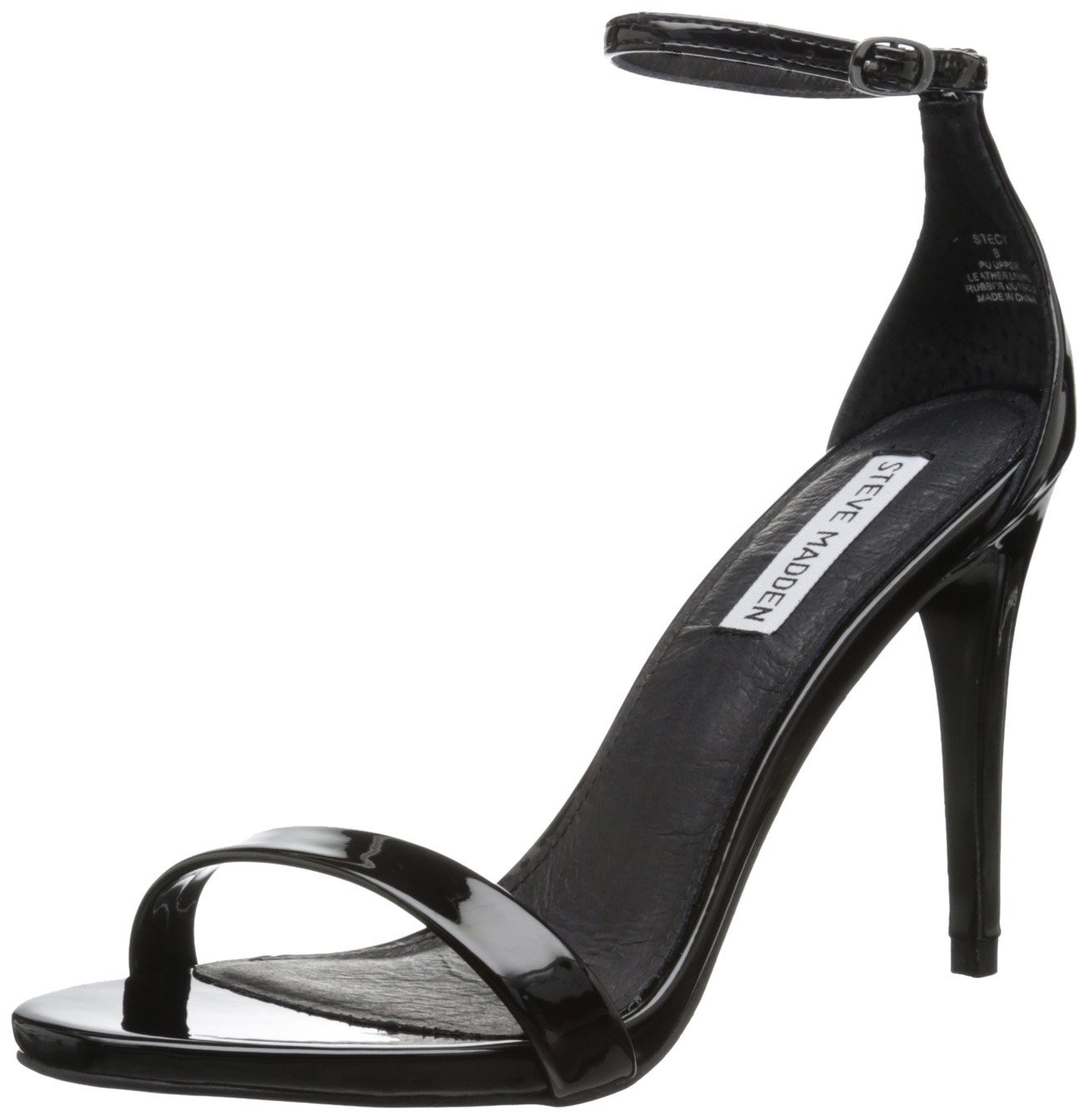 dbcb8aefd496 Steve Madden Stecy Dress Sandal in Black Patent Color