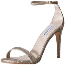 Steve Madden Stecy Dress Sandal in Gold Glitter Color