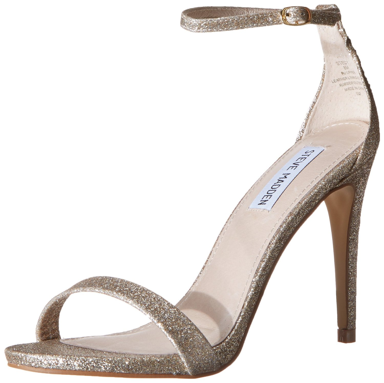 2ae1ce0622d Steve Madden Stecy Dress Sandal in Gold Glitter Color