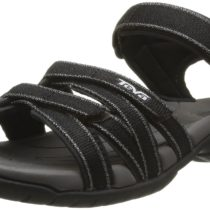 TEVA Tirra Metallic Ladies Sandal in Black Color