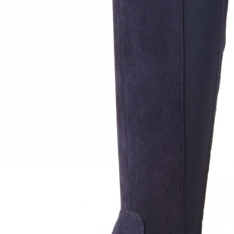 Very Volatile Timber Riding Boot in Navy Color