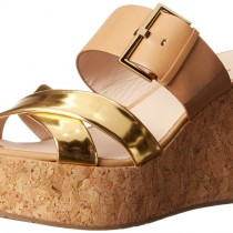 kate spade new york Talula Wedge Sandal in Natural Color