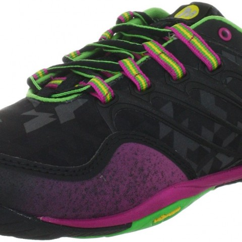 merrel  Barefoot Lithe Glove Trail Running Shoe in Black