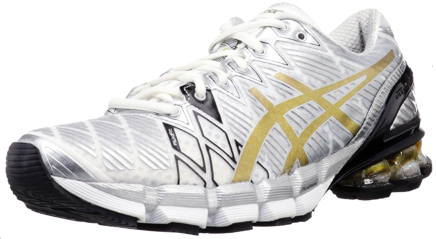 huge discount 45991 32996 ASICS GEL-Kinsei 5 Running Shoe White-Gold-Silver
