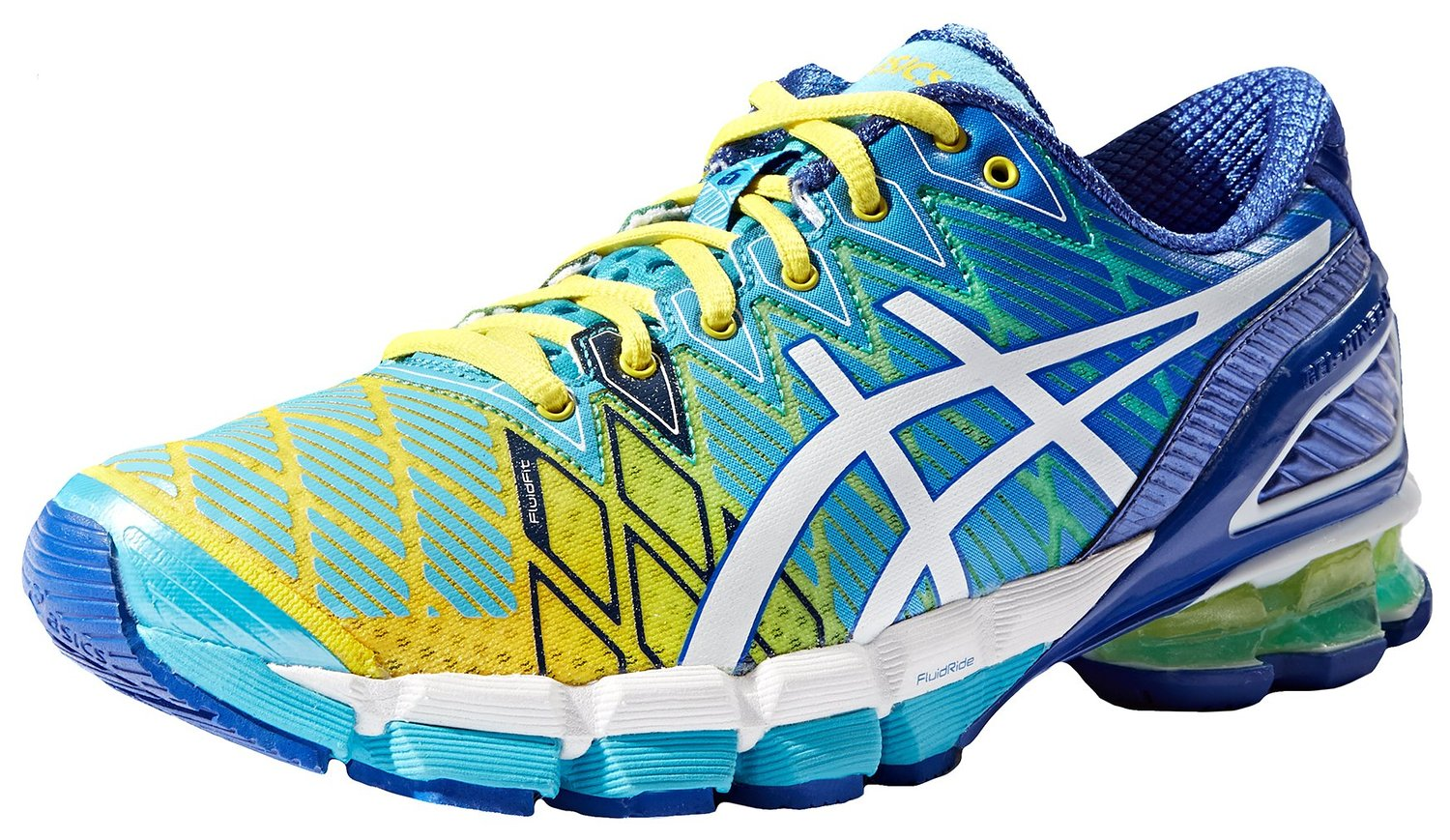finest selection a5c29 4c762 ASICS GEL-Kinsei 5 Running Shoe Yellow-White-Turquoise