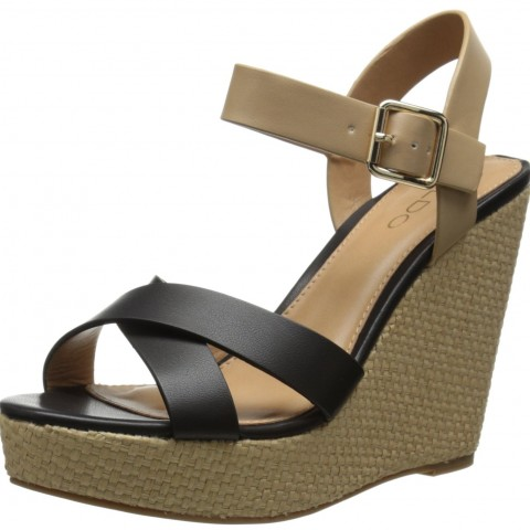 Aldo Pozzolo Wedge Sandal Black