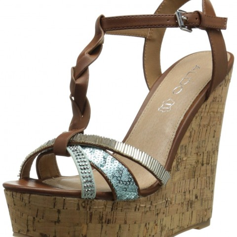 Aldo Reggimonti Wedge Sandal Tan
