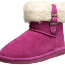 BEARPAW Abby Snow Boot Pom Berry