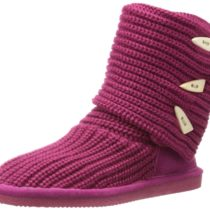 BEARPAW Knit Tall Boot Pom Berry