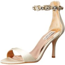 Badgley Mischka Clark II Dress Sandal Ivory Satin