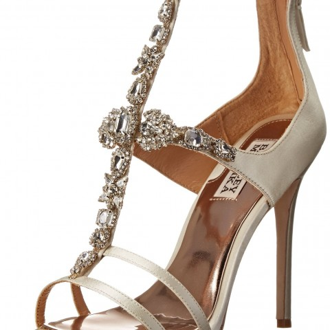 Badgley Mischka Giovana Dress Sandal Ivory Satin