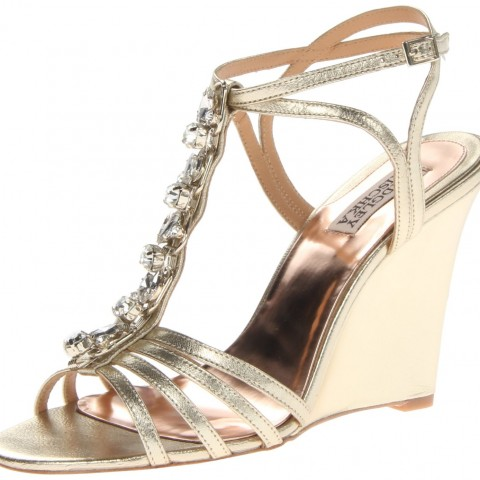 Badgley Mischka Kole Wedge Sandal Palatino Leather