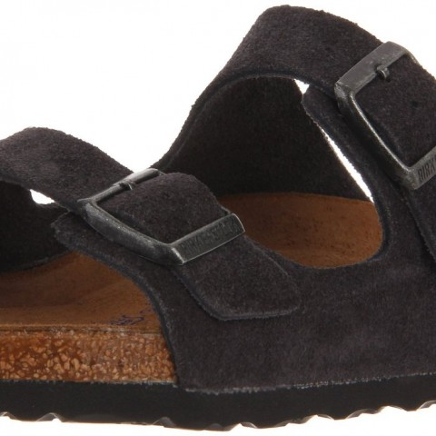 Birkenstock Unisex Arizona Soft Footbed Sandal Velvet Gray