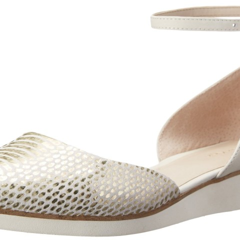 Calvin Klein Evonna Ballet Flat White GoldCream