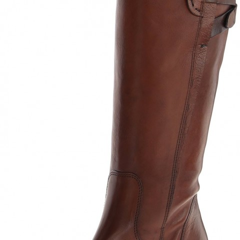 Clarks Maymie Stellar Riding Boot Cognac Leather