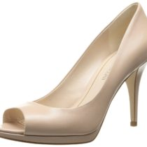 Enzo Angiolini Nolle Leather Dress Pump Natural