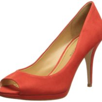 Enzo Angiolini Nolle Nubuck Dress Pump Red