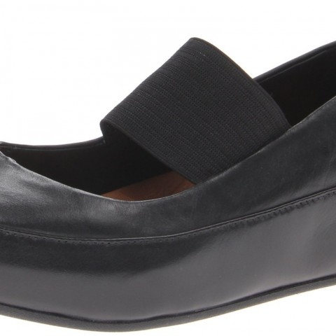 FitFlop Due Leather Ballet Flat Black