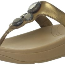 FitFlop Lunetta Thong Sandal Bright Bronze