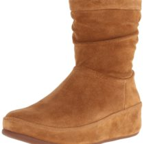 FitFlop Zip-Up Crush Suede Boot Tan
