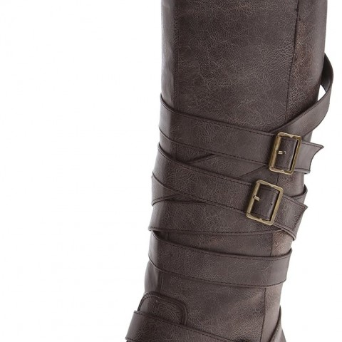 Madden Girl Lilith Motorcycle Boot Brown