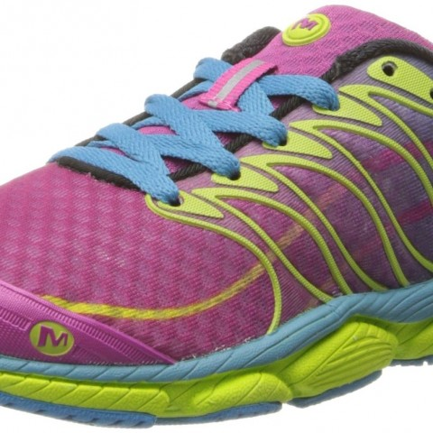 Merrell All Out Flash Trail Running Shoe Wine-Lime