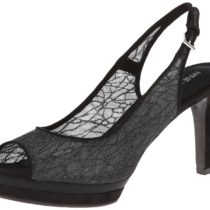 Nine West Able Fabric Platform Sandal,BlackBlack,9.5 M US Black