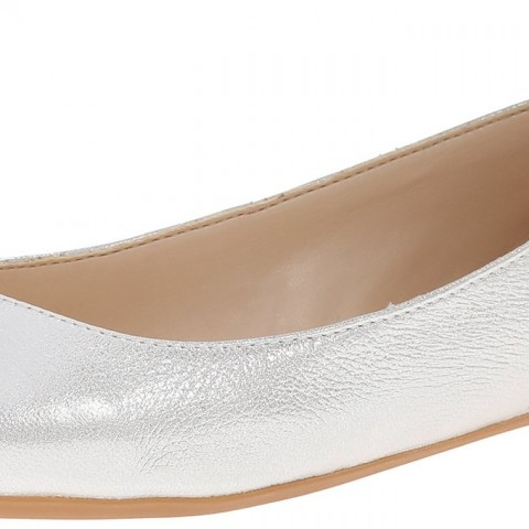Nine West Aranella Metallic Ballet Flat Silver