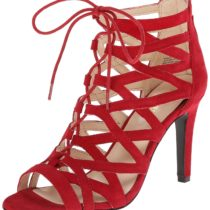 Nine West Authority Suede Dress Sandal Red