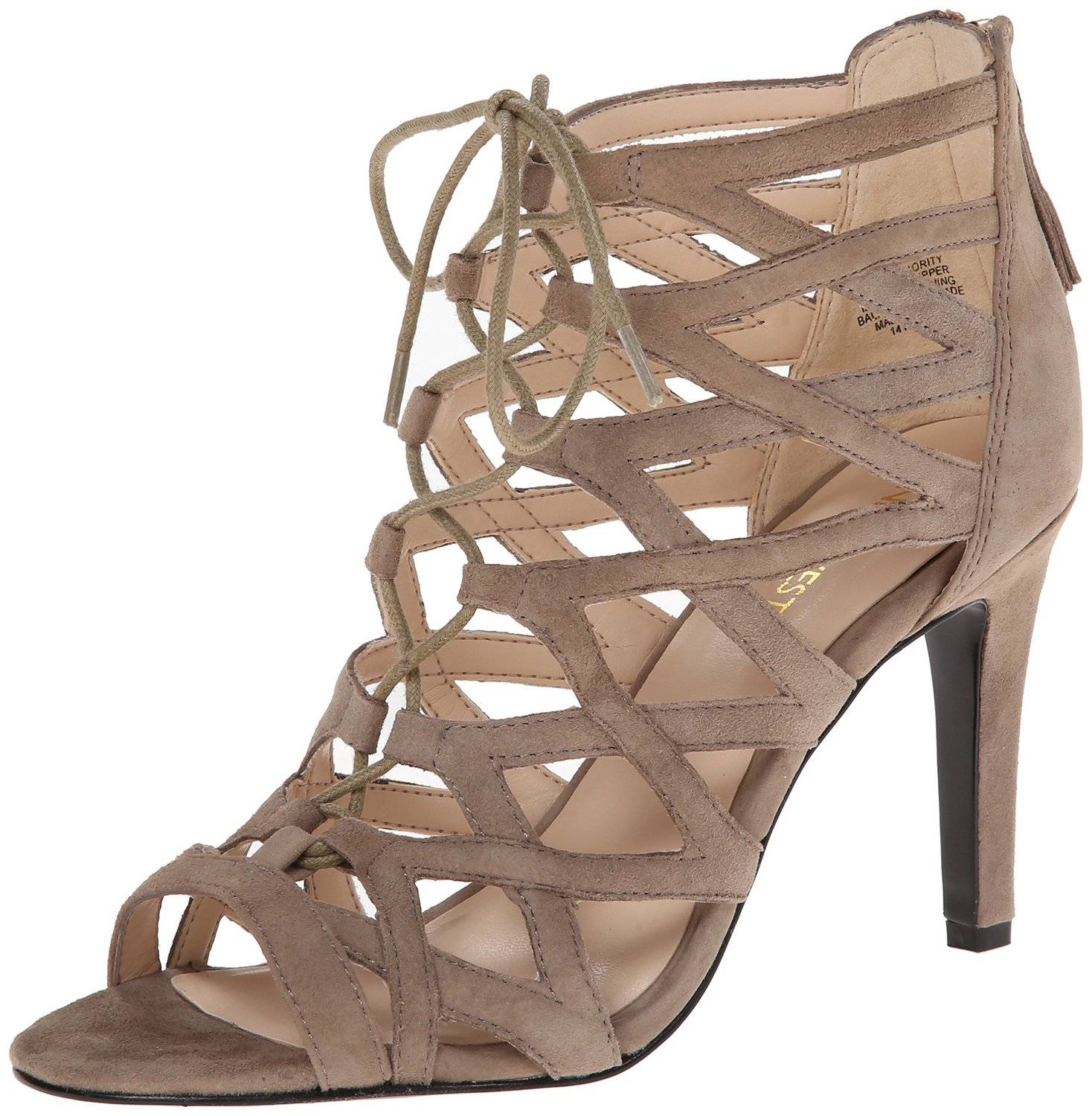 c3bc5e1fdf1 Nine West Authority Suede Dress Sandal Taupe