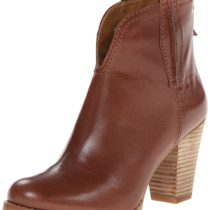 Nine West Cally Leather Boot Dark Brown