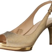 Nine West Cinema Metallic Dress Pump Gold