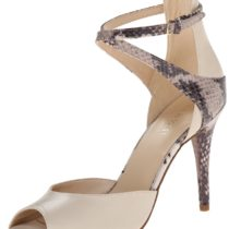 Nine West Doreen Leather Dress Pump Off WhiteNatural Multi
