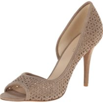 Nine West Dragonia Suede D'Orsay Pump Taupe