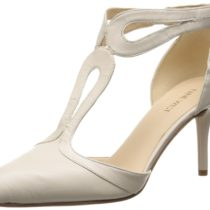 Nine West Endearing Leather Dress Pump Off white