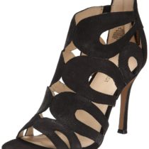 Nine West Flora Nubuck Dress Sandal Black