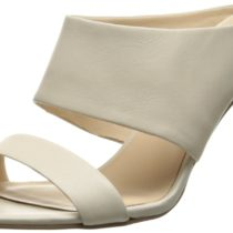 Nine West Intilect Leather Dress Sandal Off white