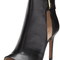 Nine West Kirstey Leather Dress Sandal Black